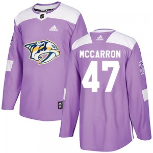 Youth Adidas Nashville Predators Michael McCarron Purple ized Fights Cancer Practice Jersey - Authentic